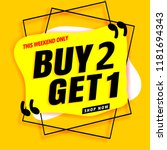 sale banner modern yellow.buy 2 ... | Shutterstock .eps vector #1181694343