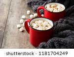 christmas cocoa with... | Shutterstock . vector #1181704249