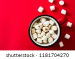 christmas cocoa with... | Shutterstock . vector #1181704270