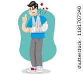 mascot bob person man  frayed...   Shutterstock .eps vector #1181707240