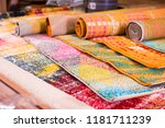various colorful wool rugs for... | Shutterstock . vector #1181711239