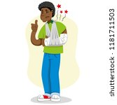 mascot ben person man  with arm ...   Shutterstock .eps vector #1181711503