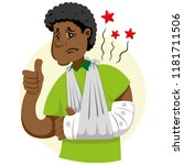 mascot ben person man  with arm ...   Shutterstock .eps vector #1181711506