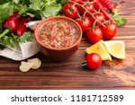 traditional mexican red spicy... | Shutterstock . vector #1181712589
