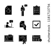 approve glyph icons set....   Shutterstock .eps vector #1181713756