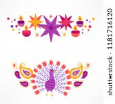diwali compositions with stars  ... | Shutterstock .eps vector #1181716120