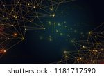 modern abstract network science ... | Shutterstock .eps vector #1181717590