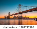 classic panoramic view of san... | Shutterstock . vector #1181717980