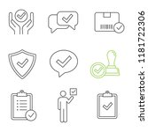 approve linear icons set.... | Shutterstock .eps vector #1181722306