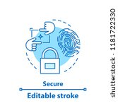 security concept icon.... | Shutterstock .eps vector #1181722330