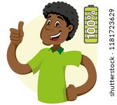 mascot ben man person  with 100 ...   Shutterstock .eps vector #1181723629