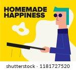 cool hipster man making an...   Shutterstock .eps vector #1181727520