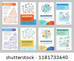 business development brochure... | Shutterstock .eps vector #1181733640