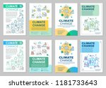 climate change brochure... | Shutterstock .eps vector #1181733643
