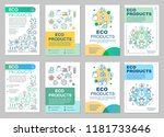 eco products brochure template... | Shutterstock .eps vector #1181733646