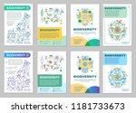 biodiversity brochure template... | Shutterstock .eps vector #1181733673
