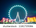 high roller at night.   las... | Shutterstock . vector #1181735086