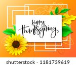 vector greeting thanksgiving... | Shutterstock .eps vector #1181739619