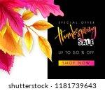 vector greeting thanksgiving... | Shutterstock .eps vector #1181739643