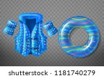 vector set with blue rubber... | Shutterstock .eps vector #1181740279