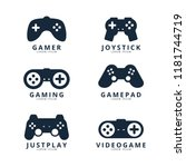 video game logo collection  | Shutterstock .eps vector #1181744719