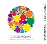 circle packing. geometric... | Shutterstock .eps vector #1181748823