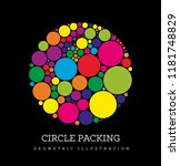 circle packing. geometric... | Shutterstock .eps vector #1181748829