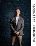 portrait of the bridegroom on a ...   Shutterstock . vector #1181750050