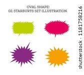 starburst speech bubble set... | Shutterstock . vector #1181758216