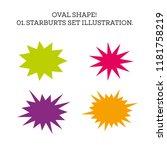 starburst speech bubble set... | Shutterstock . vector #1181758219