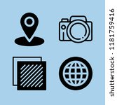 set of 4 interface filled icons ... | Shutterstock .eps vector #1181759416