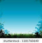 jungle vector landscape | Shutterstock .eps vector #1181760640