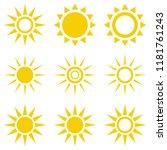 sun icon set. suns icon...   Shutterstock .eps vector #1181761243