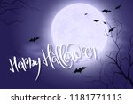 vector halloween poster with... | Shutterstock .eps vector #1181771113
