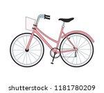 vintage bike isolated | Shutterstock .eps vector #1181780209