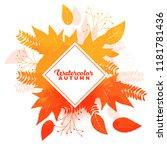 autumn banner. autumn banner...   Shutterstock .eps vector #1181781436