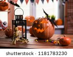happy halloween. background in... | Shutterstock . vector #1181783230