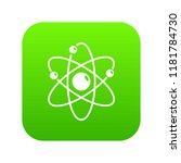 atom icon green isolated on... | Shutterstock . vector #1181784730