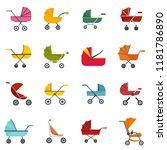 pram stroller carriage cradle... | Shutterstock .eps vector #1181786890