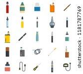 electronic cigarette mod cig... | Shutterstock .eps vector #1181787769