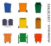 separation recycle bin waste...   Shutterstock .eps vector #1181787853
