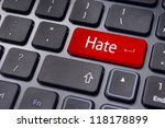 hate or hating concepts  with...   Shutterstock . vector #118178899