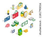 Money Icons Set In Isometric 3...