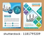 abstract cover and layout for... | Shutterstock .eps vector #1181795209