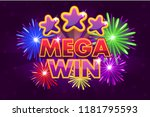 vector set mega big win banner...