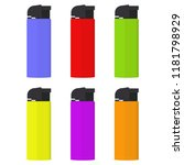 realistic lighters. a set of...   Shutterstock .eps vector #1181798929