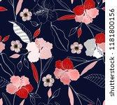 botanical motifs. isolated... | Shutterstock .eps vector #1181800156
