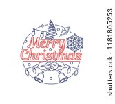 christmas banner with christmas ... | Shutterstock .eps vector #1181805253