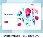 modern flat design isometric... | Shutterstock .eps vector #1181806693