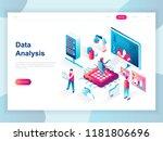 modern flat design isometric... | Shutterstock .eps vector #1181806696